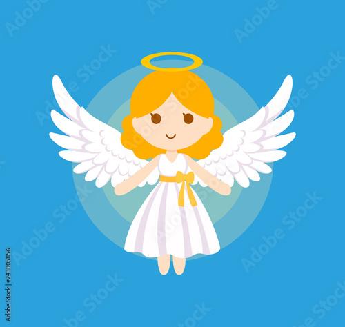 Fototapeta Cute angel bless vector illustration.