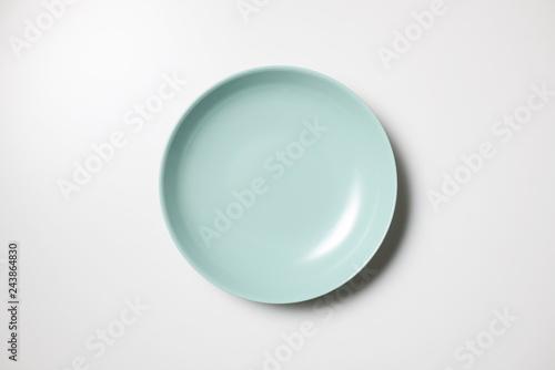 皿 真俯瞰 緑の皿