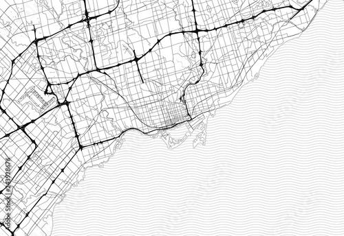 Canvas Print Area map of Toronto, Canada