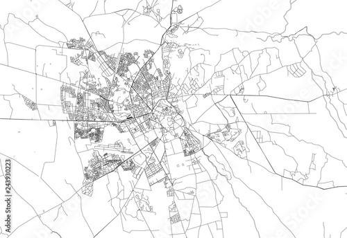 Obraz na plátně Area map of Marrakech, Morocco