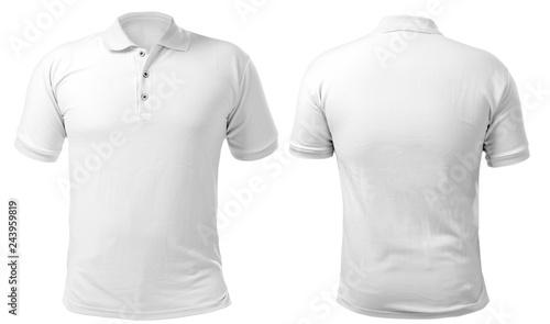 Canvas Print White Collared Shirt Design Template