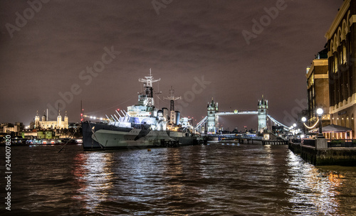 Canvas Print HMS Belfast