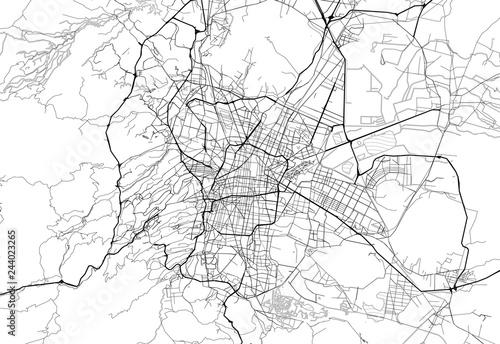 Obraz na plátně Area map of Mexico City, Mexico