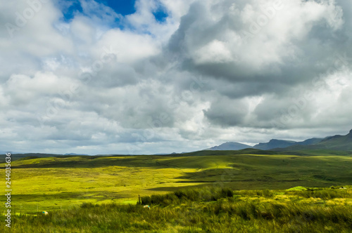 Fototapeta Scottish Lowland Landscape, photographed from the popular walkway known as The B