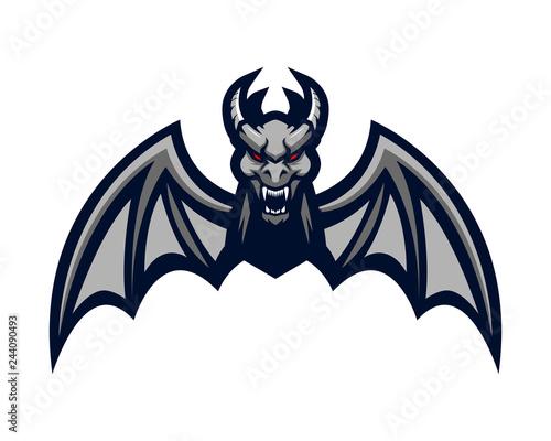 Obraz na plátne gargoyle bat mascot dragon monster