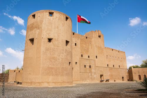 Facade of the Jabrin Fort in Bahla (Oman) Fototapet