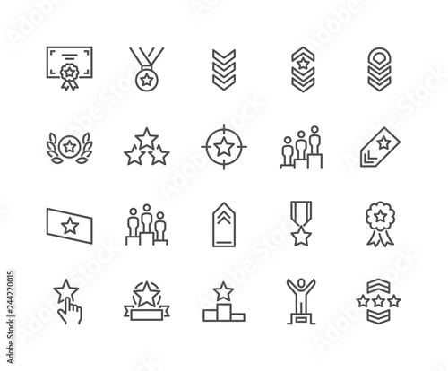 Fotografía Simple Set of Ranking Related Vector Line Icons
