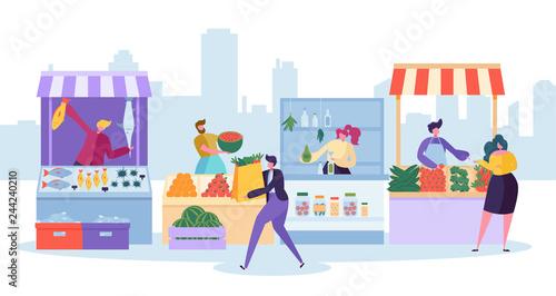 Photo Fresh Food Market Stand