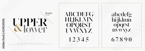 Fotografie, Obraz Elegant alphabet letters font set