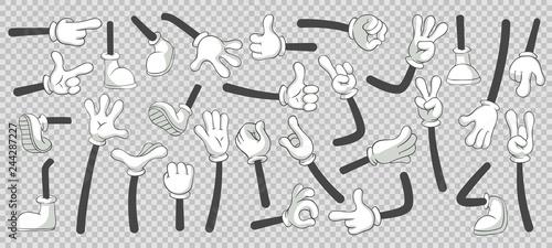 Fotografie, Obraz Cartoon legs and hands