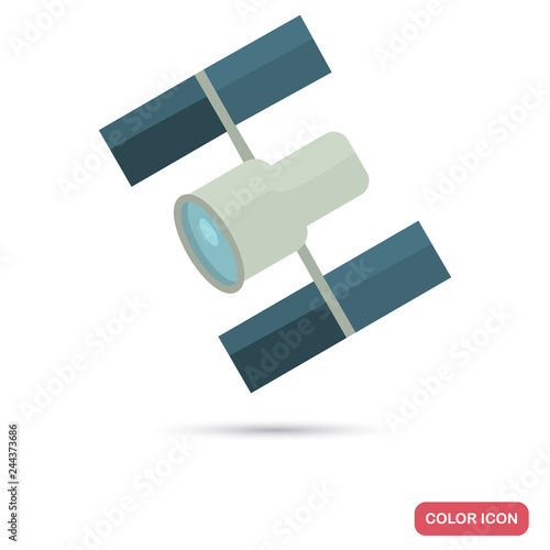 Telescope Hubble color flat icon for web and mobile design Fototapet