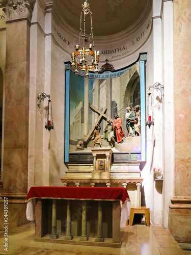 Obraz na plátně Jerusalem, Israel, July 15, 2015: Sculptural composition of  Execution Of Jesus