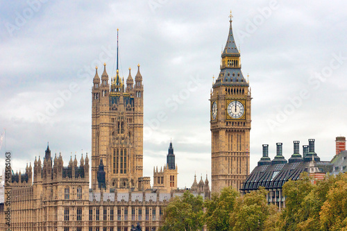 Fotografie, Obraz Big Ben and Houses of Parliament in London
