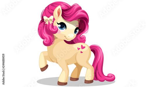 Canvas Print Beautiful little pony