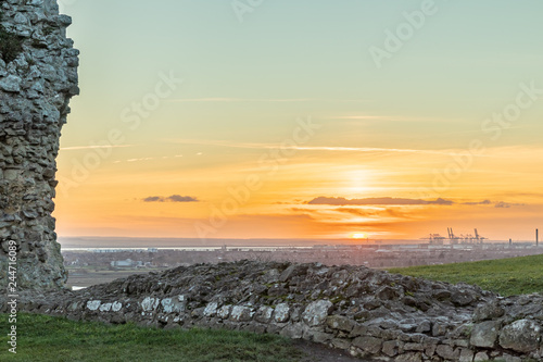 Obraz na płótnie View from the ruins of Hadleigh Castle, Essex