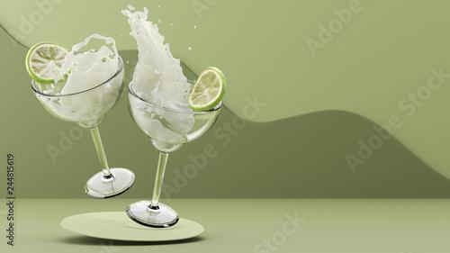 Fotografía Dual Alcoholic Beverages Colliding