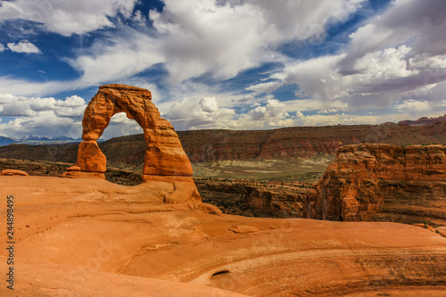 Canvas Print Delicate Arch, Arches National Park, Utah, United States