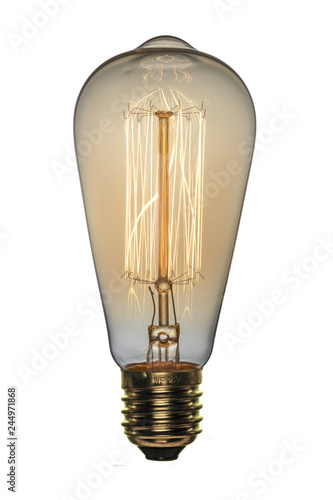 Fotografie, Tablou Retro light bulb, Edison style