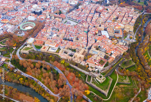 Canvas Print Aerial view of Pamplona