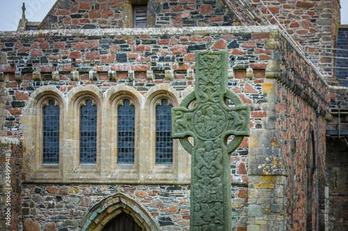 Saint Martins Cross at Iona Abbey Fototapeta