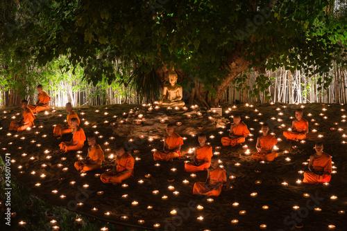 Valokuvatapetti CHIANG MAI THAILAND-MAY 13 : Visakha Puja Day in Chiangmai