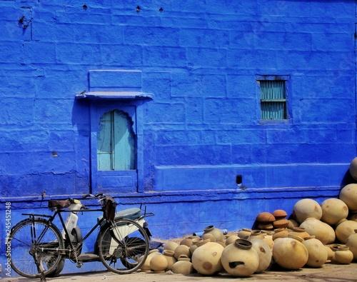 Valokuvatapetti Jodhpur aussi appelé la ville bleue dans l'état du Rajasthan en Inde du nord