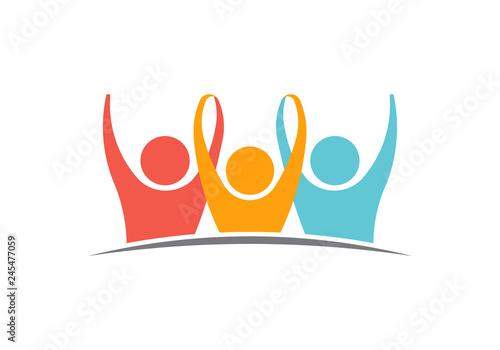 Fototapeta Unity Three logo People Illustration