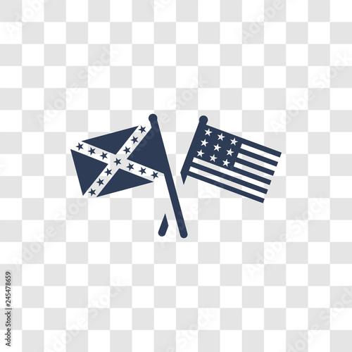 Carta da parati american civil war icon vector