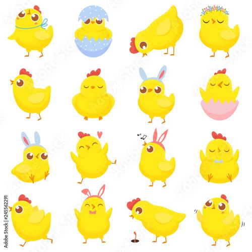 Fotomural Easter chicks