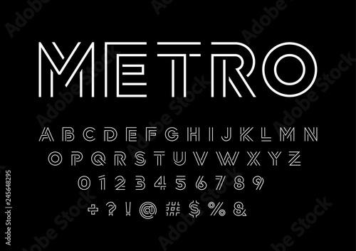 Modern abstract alphabet Tapéta, Fotótapéta