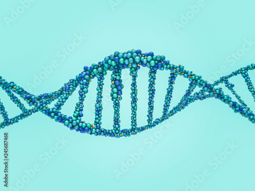 Fotografija DNA chain. Abstract scientific background. 3D rendering