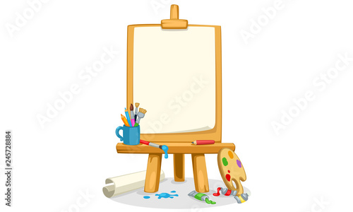 Canvas Print Art Easel