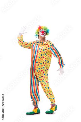 Funny clown isolated on white background Tapéta, Fotótapéta
