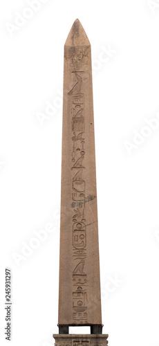 Fotografia Egyptian obelisk with hieroglyphs in Sultanahmet Square, Istanbul, Turkey