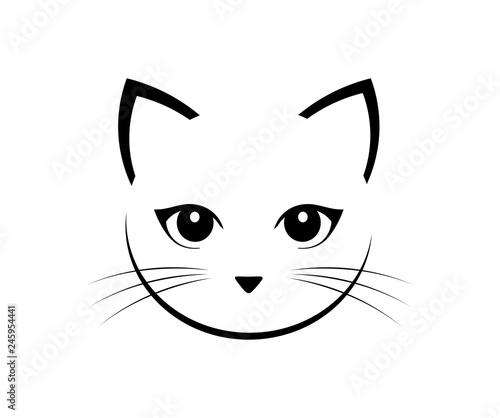 Cuadros en Lienzo Cute cat face.
