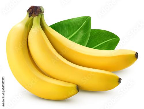 Cuadros en Lienzo Bunch of bananas isolated