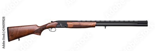 Obraz na płótnie classic hunting double barreled shotgun isolated on white