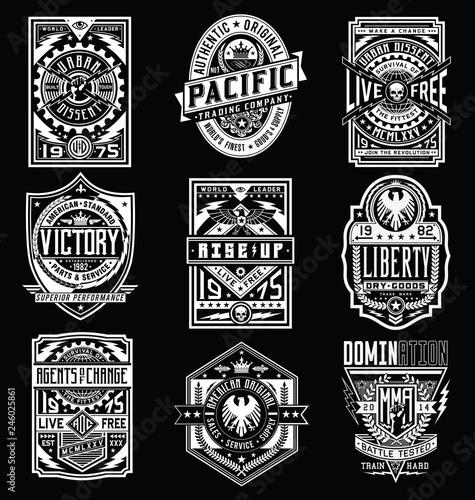 Photo Vintage Poster / Emblem / T-shirt Design Vector Set
