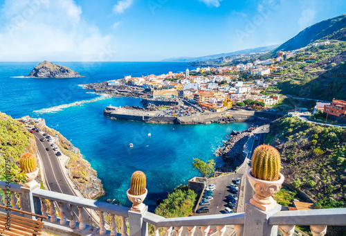 Landscape with Garachico town of Tenerife, Canary Islands, Spain