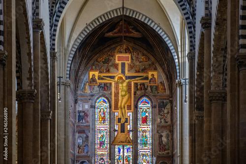 Canvas Print Firenze, interno santa Maria Novella