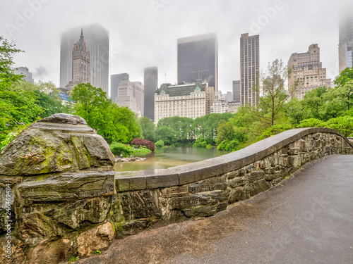 Central Park, New York City in spring Fotobehang