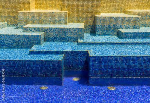 Texture blue cool mosaic tile background