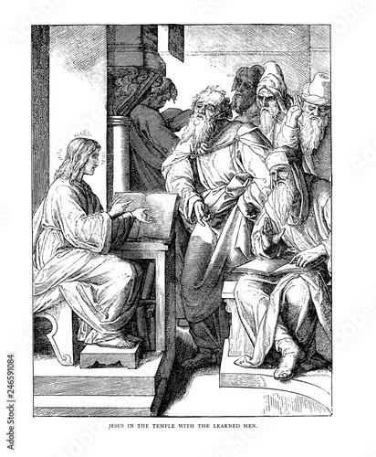 Obraz na płótnie Illustration on religious subject.