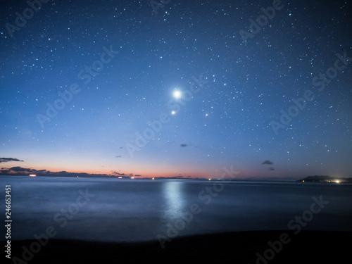 Photo 夜明け前の星空