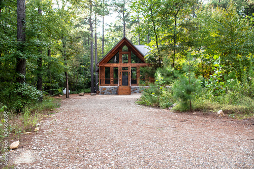 old cabin in the forest Fototapeta