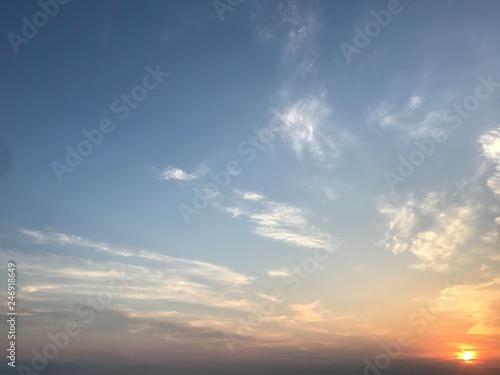 Valokuvatapetti sky with clouds