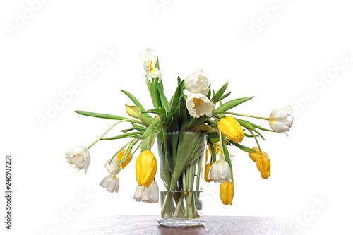 Verwelkte Tulpen in der Vase