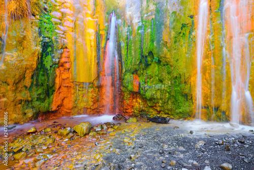 Canvas Print Cascade of Colors at Caldera de Taburiente, La Palma Island, Canary Islands in S