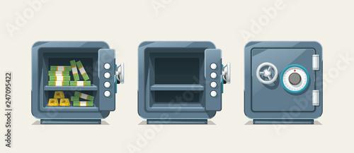 Slika na platnu steel safe set