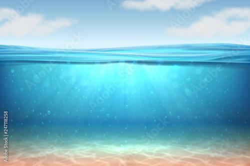 Obraz na plátně Realistic underwater background